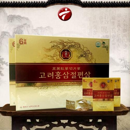 Hồng sâm thái lát tẩm mật ong Bio Apgold Hàn Quốc NS030