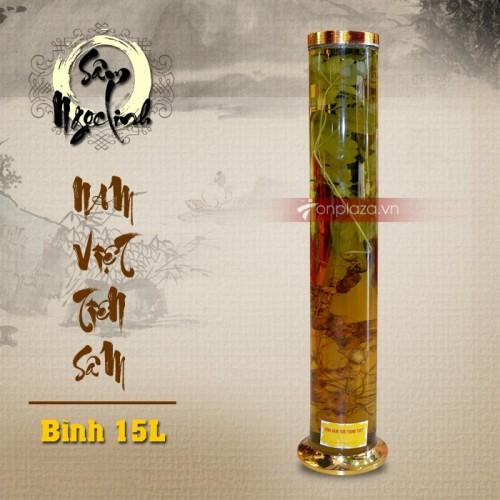 Bình sâm Ngọc Linh 15L dáng trụ dài cao cấp NS400