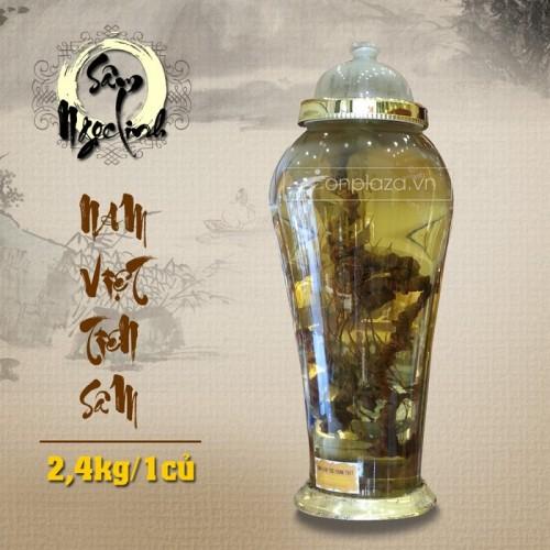 Bình sâm Ngọc Linh cao cấp tự nhiên loại 2,4 kg/củ NS301