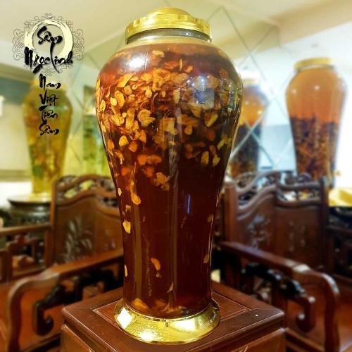 Bình Sâm Ngọc Linh thái lát ngâm mật ong bạc hà thượng hạng