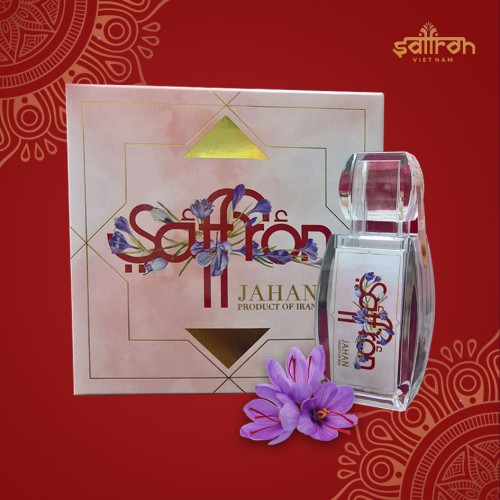 Nhụy hoa nghệ tây Iran Saffron JAHAN hộp 3g  NT008