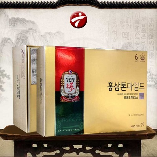 Nước Hồng Sâm cao cấp chính phủ KRG Tonic Mild (Cheong Kwan Jang) hộp 30 gói NS635