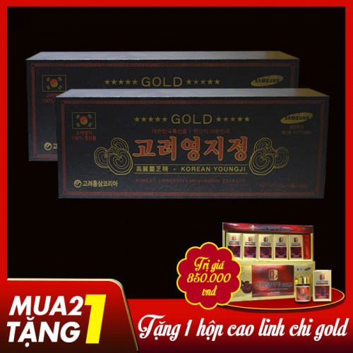 Cao Linh Chi Hàn Quốc (3lọ x 120g)-Hộp gỗ đen Gold L029