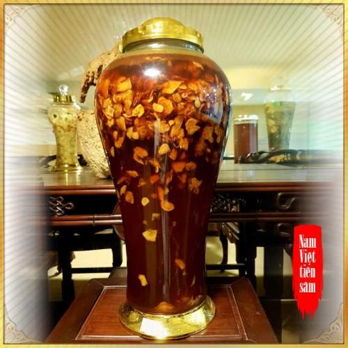 Bình sâm Ngọc Linh cao cấp thái lát tẩm mật ong 17L NS418