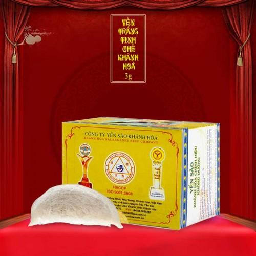Yến trắng tinh chế Khánh Hòa hộp 3g (H011) Y016
