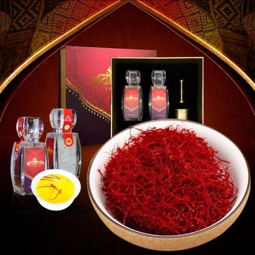 Bộ sản phẩm Nhụy hoa nghệ tây saffron SALAM  trà hoa cúc hộp 5g NT002