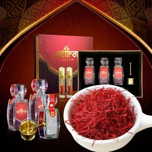 Bộ sản phẩm Nhụy hoa nghệ tây saffron SALAM  trà hoa cúc hộp 10g NT003