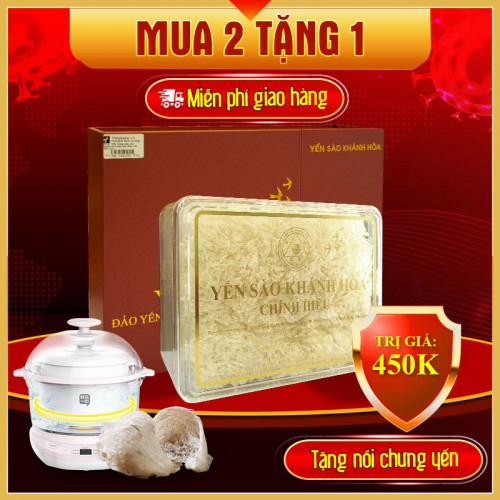 Yến trắng tinh chế Khánh Hòa hộp quà tặng 100g (H014G) Y017
