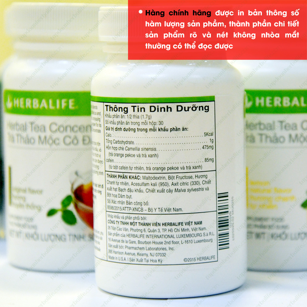 Trà thảo mộc cô đặc giảm cân Herbalife Tea Concentrate 4