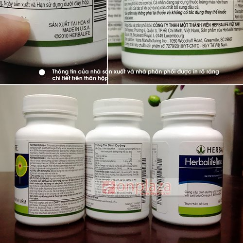 Herbalifeline - Hỗn hợp dầu cá Omega 3,6,9 hỗ trợ tim mạch H010 3