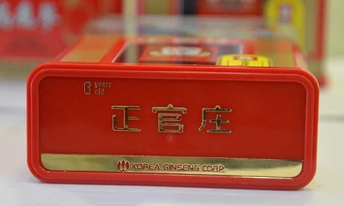 Hồng sâm củ khô cao cấp chính phủ KGC hộp thiếc 300g NS455 13