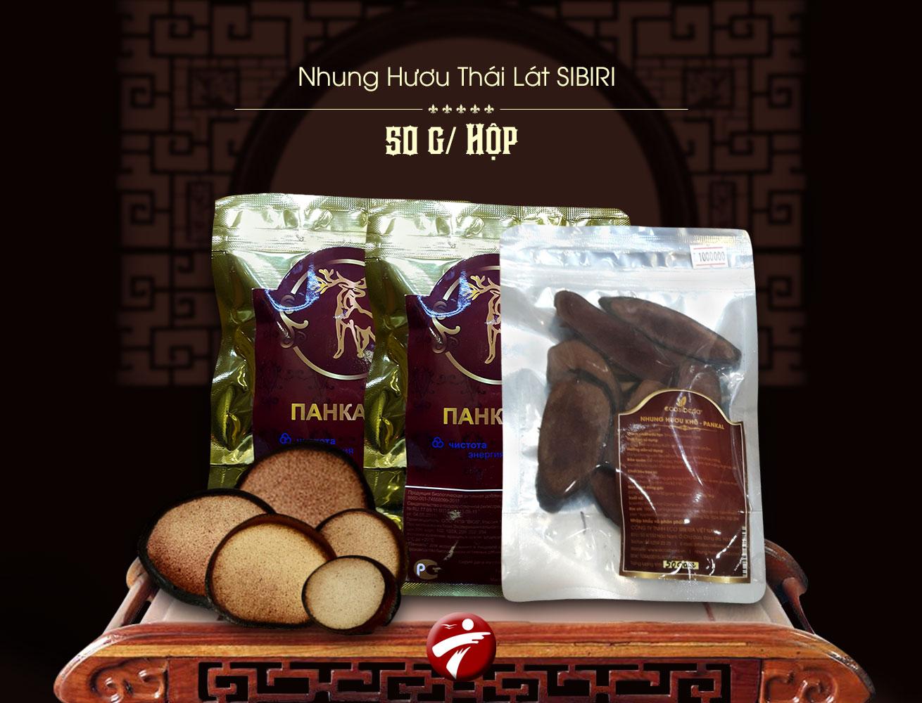 banner Nhung hươu thái lát 50g Sibiri NH005