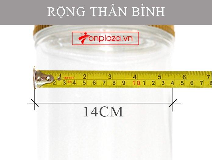 Bình sâm Ngọc Linh 15l dáng trụ dài cao cấp  NS400 5