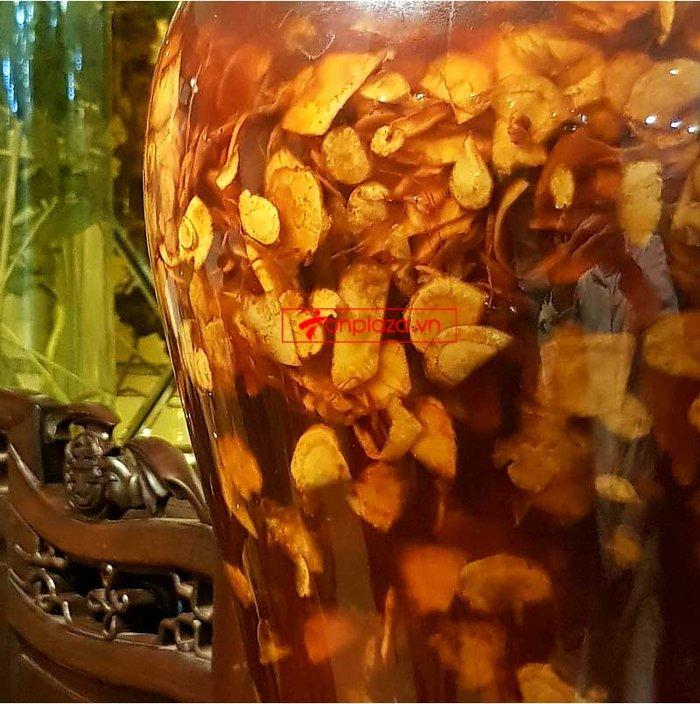 Bình sâm Ngọc Linh cao cấp thái lát tẩm mật ong 17L NS418 3