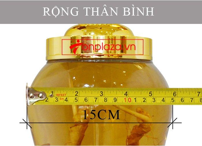 Bình sâm Ngọc Linh tươi củ nhỏ 3.5L NS394 6