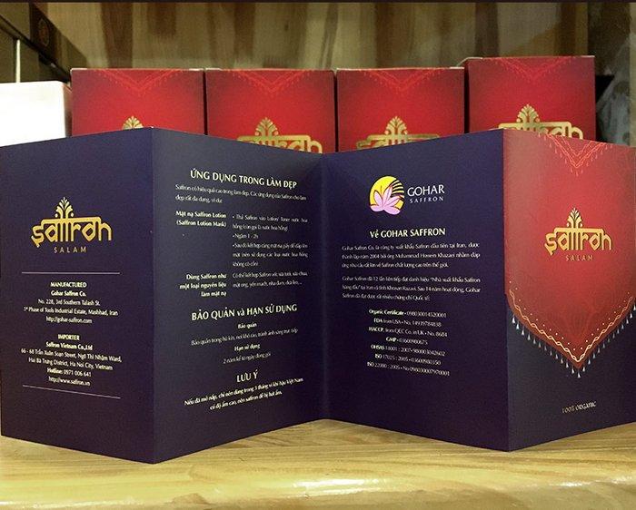Bộ sản phẩm Nhụy hoa nghệ tây saffron SALAM  trà hoa cúc hộp 10g NT003 14