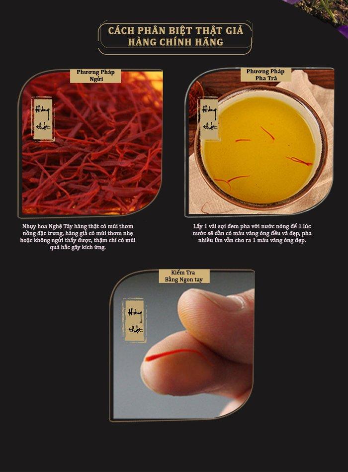 cách nhận biết nhụy hoa nghệ tây thật giả 1