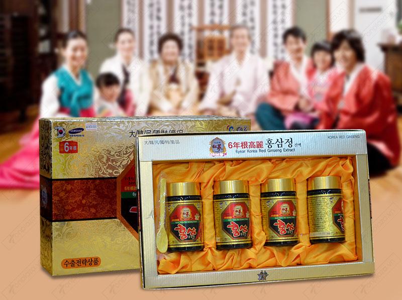 Cao hồng sâm hanil Hàn Quốc 4 lọ 250gr NS033