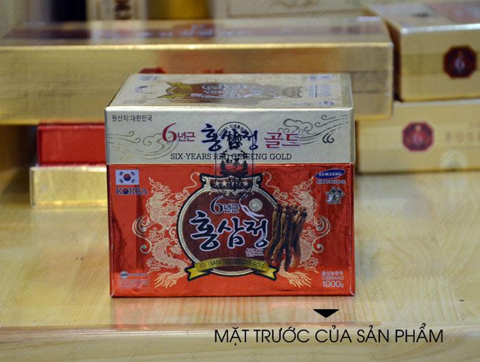 Cao hồng sâm hộp sứ xanh 1kg NS034 3