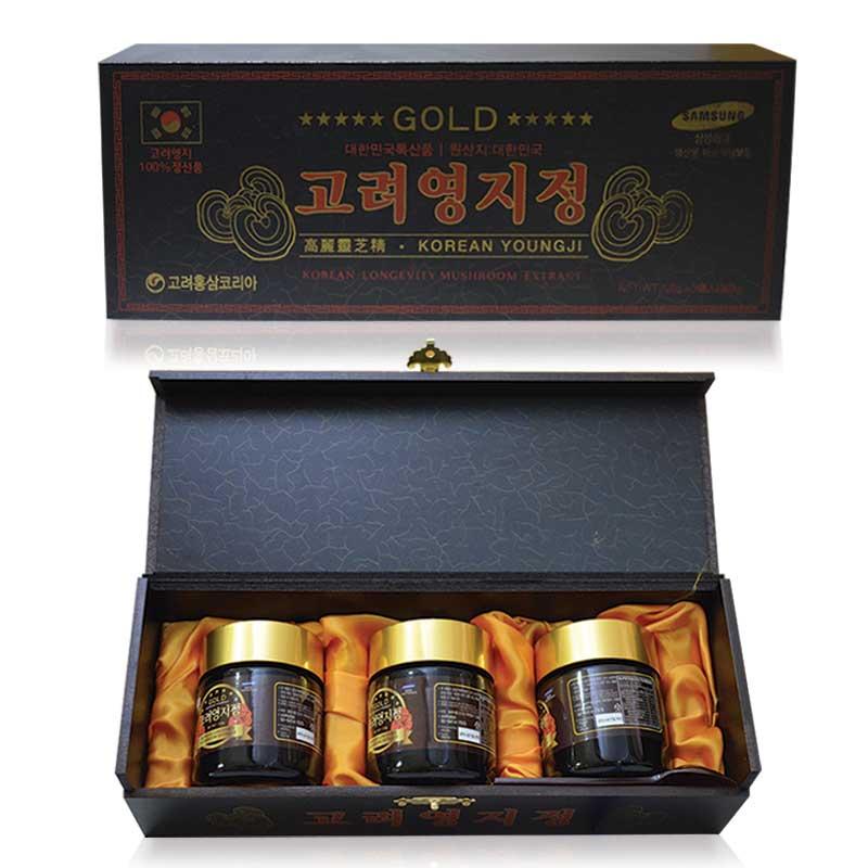 Cao Linh Chi Hàn Quốc (3lọ x 120g) - Hộp gỗ đen Gold L029 1