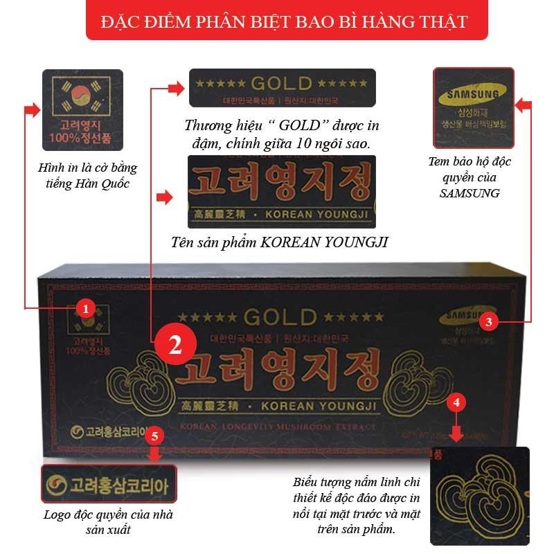 Cao Linh Chi Hàn Quốc (3lọ x 120g) - Hộp gỗ đen Gold L029 2