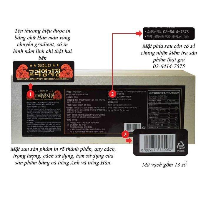 Cao Linh Chi Hàn Quốc (3lọ x 120g) - Hộp gỗ Trắng Gold L030 2