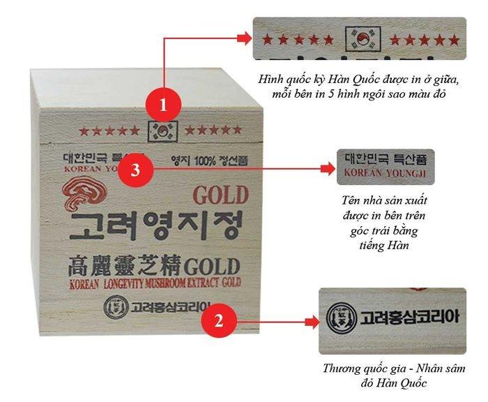 Cao Linh Chi Hàn Quốc (3lọ x 120g) - Hộp gỗ Trắng Gold L030 3