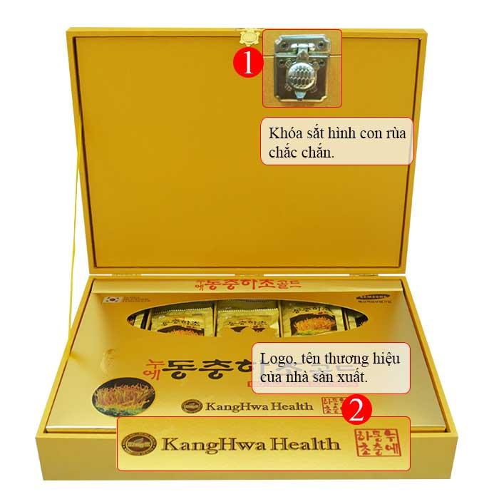 ĐTHT hộp gỗ vàng 60 gói cao cấp D043 2