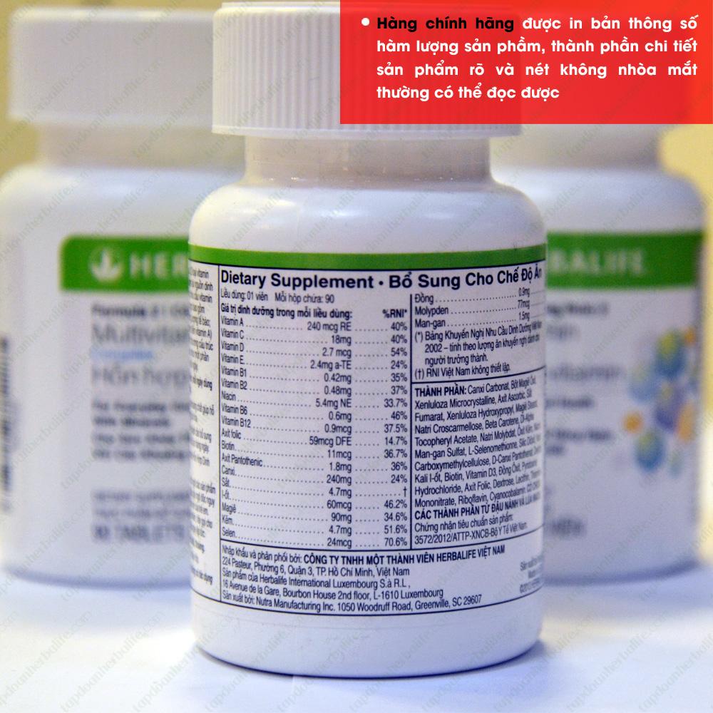 Thực phẩm dinh dưỡng Multivitamin Herbalife F2 4