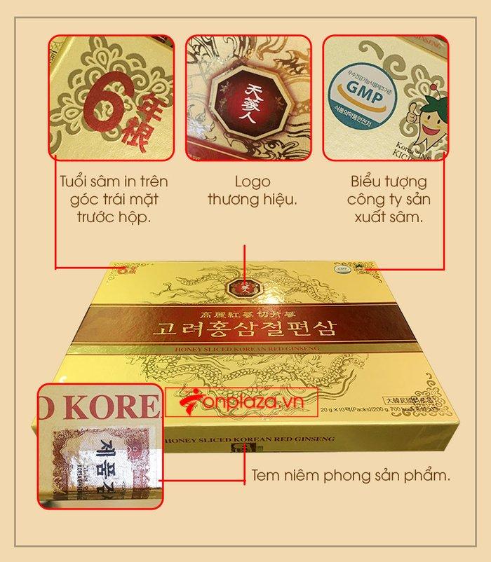 Hồng sâm thái lát tẩm mật ong Bio Apgold Hàn Quốc NS030 2