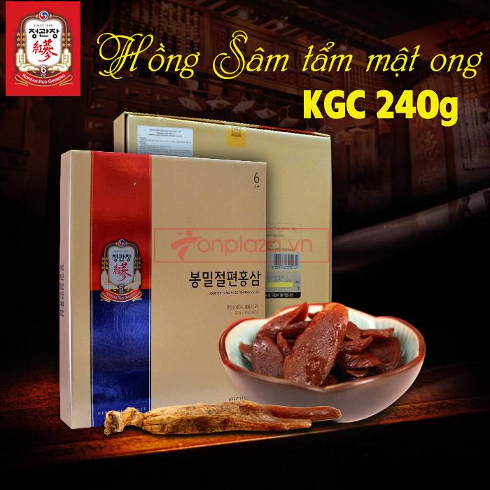 Hồng sâm tẩm mật ong cao cấp chính phủ KGC hộp 240g  NS453 1