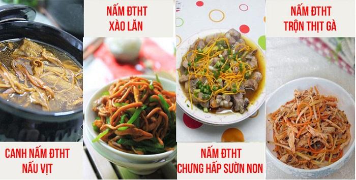 Một số món ăn chế biến từ đtht