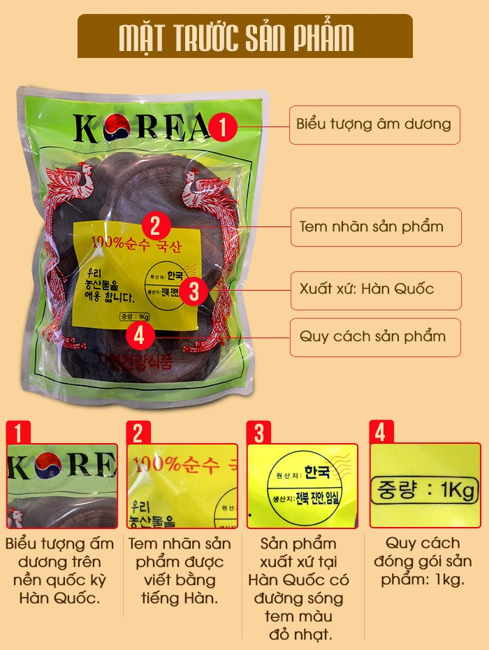 Nấm linh chi đỏ thượng hạng Hàn Quốc L048 4