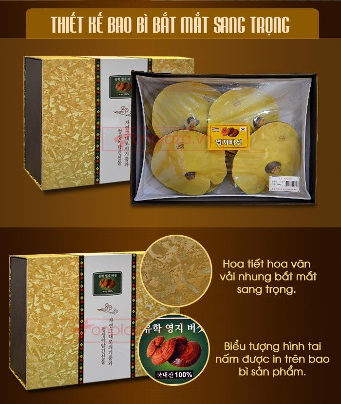 Nấm linh chi đỏ thượng hạng hộp quà biếu (1kg/ hộp) L047 2