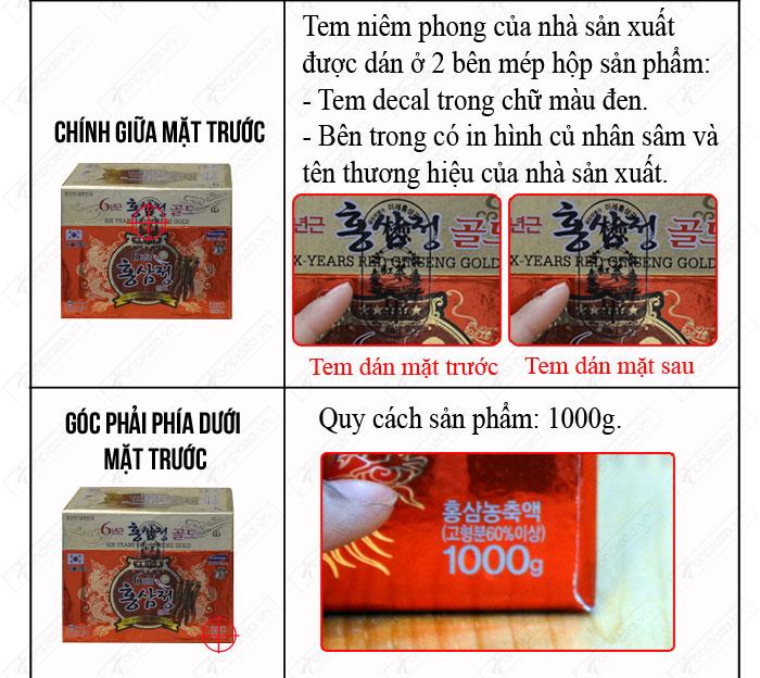 Nhận biết cao hắc hồng sâm hộp sứ xanh 1kg chính hãng NS034 3