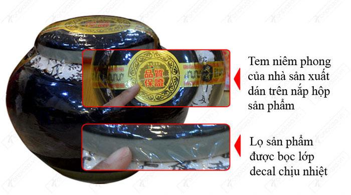 Nhận biết cao hắc hồng sâm hộp sứ xanh 1kg chính hãng NS034 6