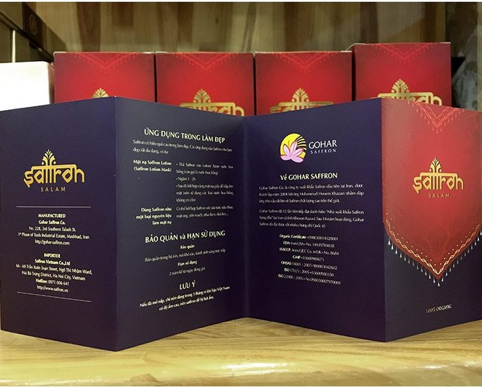Nhụy hoa nghệ tây IRAN cao cấp Saffron SALAM hộp 3g NT001 9