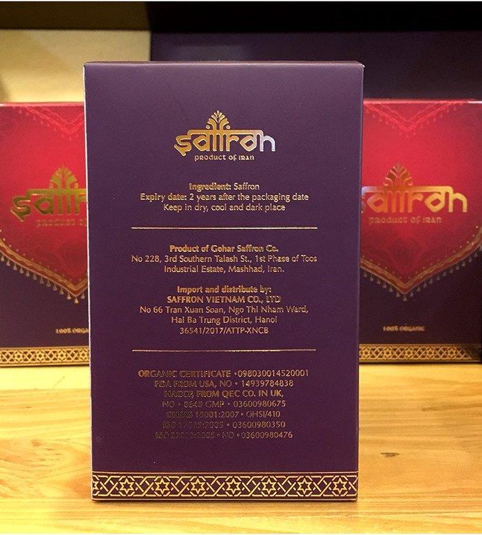 Nhụy hoa nghệ tây IRAN cao cấp Saffron 01