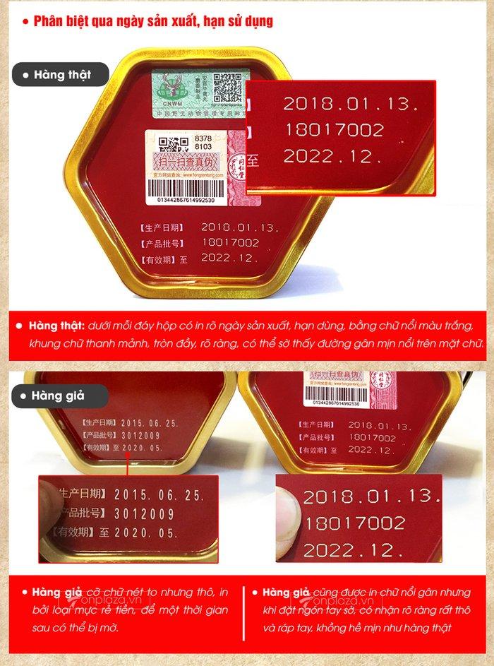 pb acn hoàng hoàn hộp thiếc màu đỏ loại thượng hạng A016 qua ngay sx,hsd