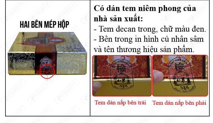 nhận biết Cao hồng sâm Hàn Quốc (4 lọ x 250g) NS033 chính hãng  6