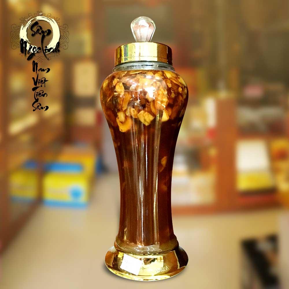 Sâm Ngọc Linh bình 2kg/ 1 bình thái lát ngâm mật ong
