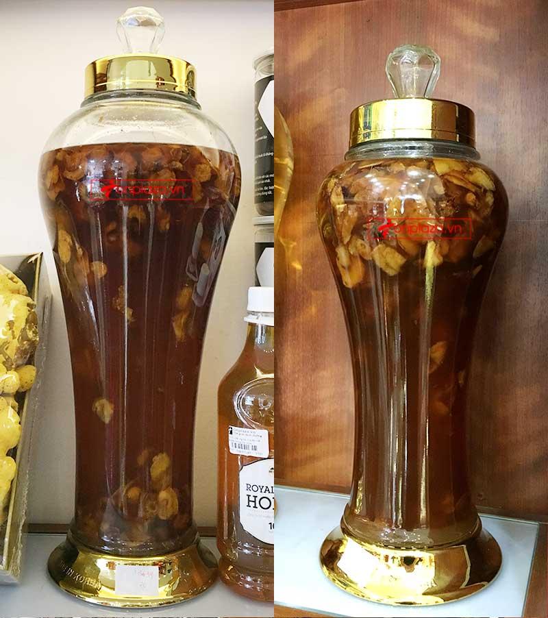 Sâm Ngọc Linh bình 500g/ 1 bình thái lát ngâm mật ong 5
