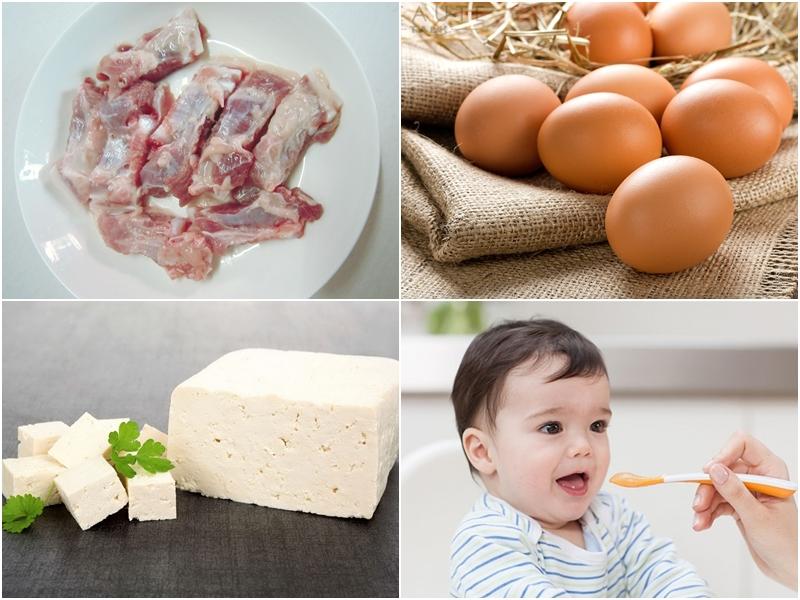 Sườn lợn, trứng gà, đậu phụ là những thực phẩm giàu canxi