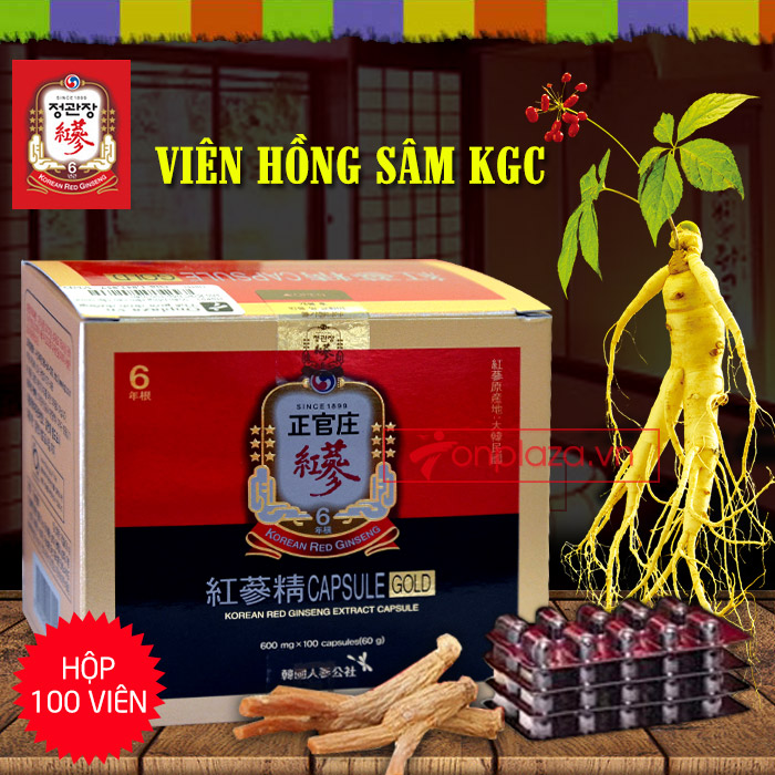 Viên hồng sâm cao cấp chính phủ KGC hộp 100v  NS451 1