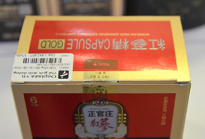Viên hồng sâm cao cấp chính phủ KGC hộp 100v  NS451 17