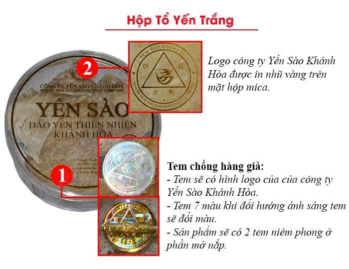 Yến nguyên tổ Khánh Hòa hộp 50g TP1 (051) Y012 3