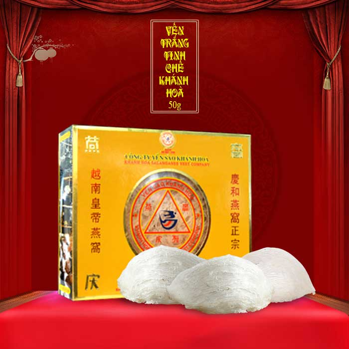 Yến trắng tinh chế Khánh Hòa hộp 50g (H015) Y013