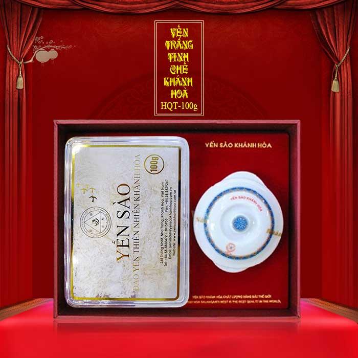 Yến trắng tinh chế Khánh Hòa hộp quà tặng 100g (H014G)