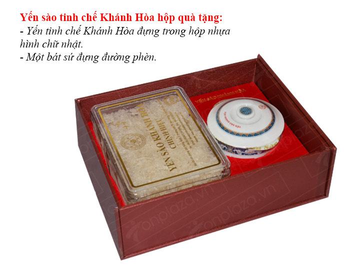 Yến trắng tinh chế Khánh Hòa hộp quà tặng 100g (H014G)  Y017 2