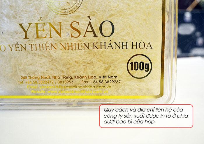 Yến trắng tinh chế Khánh Hòa hộp quà tặng 100g (H014G)  Y017 8